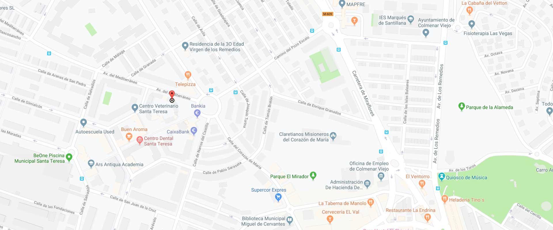 Contacto Frutos y Asociados en Avda. del Mediterráneo, 1, 1º A   28770 Colmenar Viejo (Madrid)